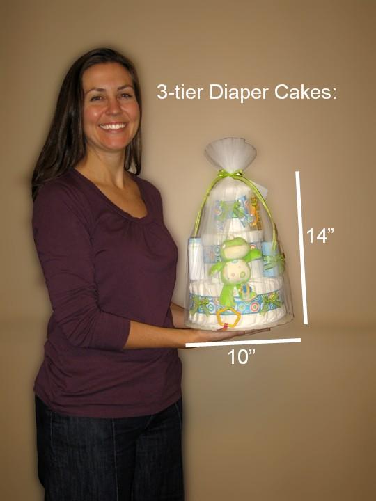 3-tier Diaper Cakes