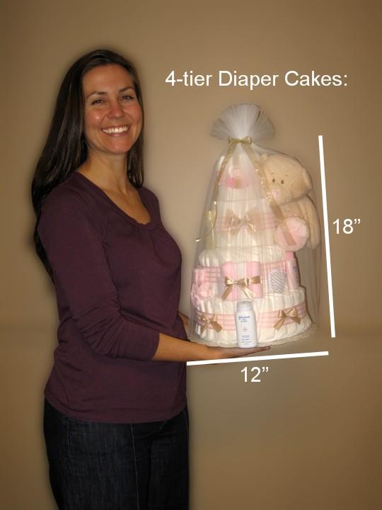 4-tier Diaper Cakes