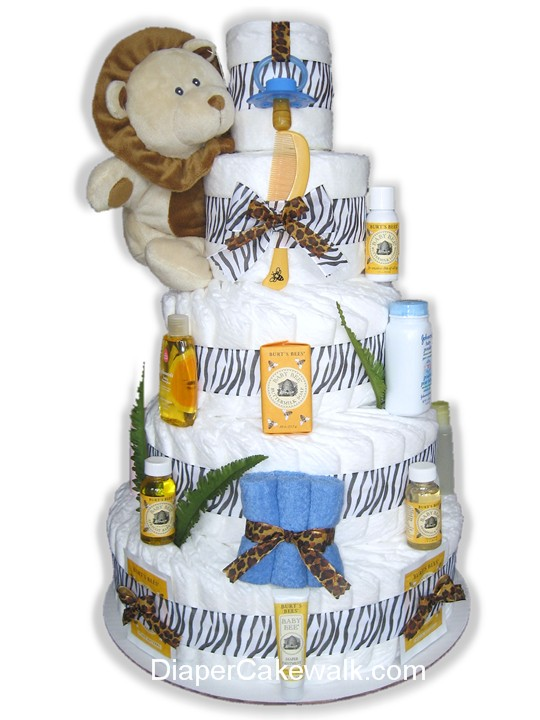 Neutral Safari diaper cake