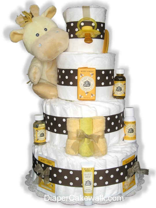 Yellow & Brown diaper cake